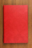 красный цвет кожи крышки книги Стоковые Изображения