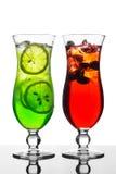 красный цвет коктеила зеленый Стоковое Изображение RF
