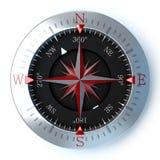Красный цвет компаса Стоковая Фотография