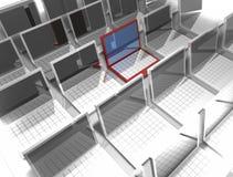 красный цвет компьютера Стоковые Фотографии RF