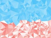 Красный цвет конспекта геометрический полигональный и голубая текстура треугольники также вектор иллюстрации притяжки corel Справ бесплатная иллюстрация