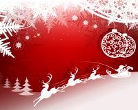 красный цвет конструкции рождества Стоковое фото RF
