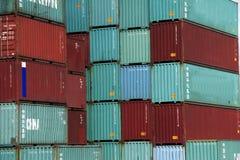 красный цвет контейнера зеленый Стоковое Фото