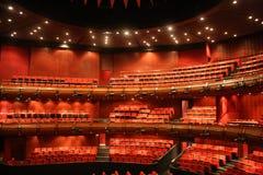 красный цвет концертного зала Стоковые Фото