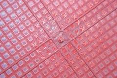 красный цвет корзины пластичный Стоковое Фото