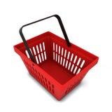 красный цвет корзины 3dmax Стоковая Фотография