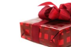 красный цвет коробки дня рождения Стоковое фото RF