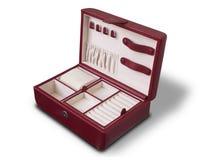 красный цвет коробки кожаный Стоковое Фото