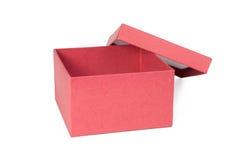 красный цвет коробки открытый стоковая фотография rf