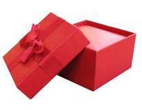 красный цвет коробки открытый Стоковые Изображения RF