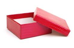 красный цвет коробки пустой стоковая фотография rf