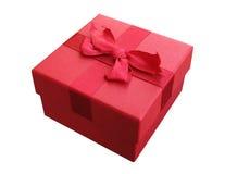красный цвет коробки смычка Стоковое Изображение