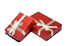 красный цвет коробки Стоковые Фото