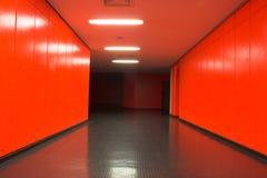 красный цвет корридора стоковая фотография