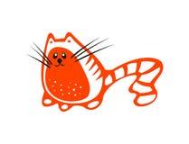 красный цвет кота Стоковое фото RF