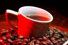 красный цвет кофе горячий Стоковое Изображение RF