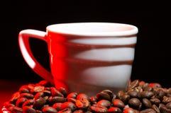 красный цвет кофе горячий Стоковая Фотография RF