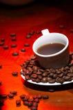 красный цвет кофе горячий Стоковые Изображения