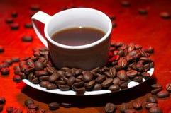 красный цвет кофе горячий Стоковая Фотография