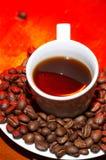 красный цвет кофе горячий Стоковые Фотографии RF
