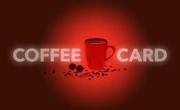 красный цвет кофе карточки Стоковая Фотография RF