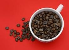 красный цвет кофе предпосылки Стоковые Фото