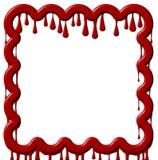 красный цвет краски рамки капания Стоковые Изображения RF