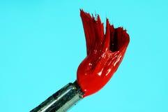 красный цвет краски щетки Стоковые Изображения RF