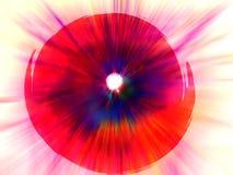 красный цвет краски daub Стоковое Изображение RF