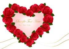 Красный цвет красотки поднял с смычком и тесемками Стоковое Изображение
