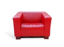 красный цвет кресла кожаный Стоковое Фото