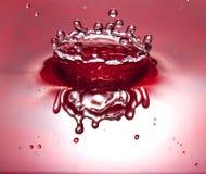 красный цвет кроны жидкостный Стоковые Изображения RF