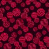 Красный цвет круга отбортовывает ожерелья на черной предпосылке иллюстрация штока