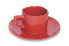 красный цвет кружки кофе Стоковые Фото