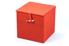красный цвет кубика коробки Стоковое фото RF