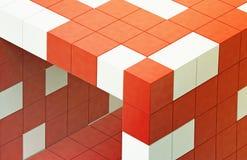 красный цвет кубика 3d футуристический Стоковое Изображение