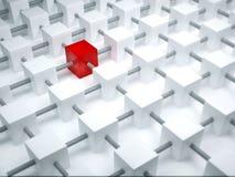 красный цвет кубика Стоковые Изображения