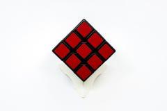 красный цвет кубика Стоковое Изображение