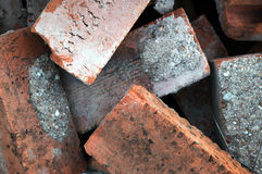 красный цвет кучи кирпичей старый Стоковое Изображение RF