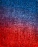 Красный цвет к голубой предпосылке ткани Стоковое Изображение RF