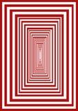 красный цвет лабиринта Стоковое фото RF