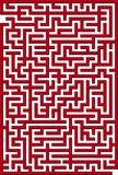 красный цвет лабиринта иллюстрация штока