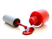красный цвет лака Стоковые Изображения