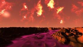 красный цвет ландшафта Стоковое фото RF