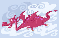 красный цвет летания дракона Стоковое фото RF