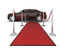 красный цвет лимузина иллюстрации ковра Стоковая Фотография RF