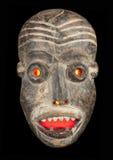 красный цвет лицевого щитка гермошлема злейших глаз Стоковые Изображения RF