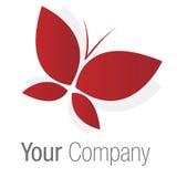 красный цвет логоса бабочки Стоковые Фотографии RF