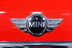 красный цвет логоса миниый Стоковое Изображение