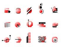 красный цвет логоса собрания Стоковые Изображения